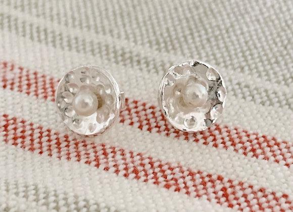 Pearl Basket Earrings