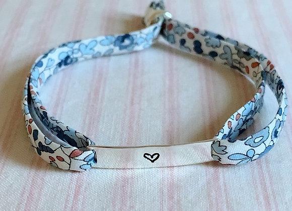 Heart ID Eloise D Liberty Fabric Bracelet