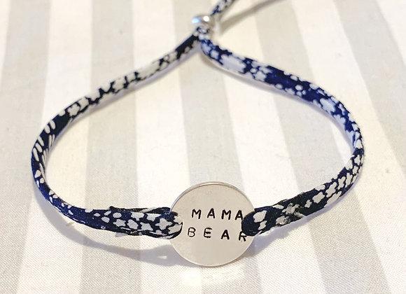Mama Bear Whispering Stars Liberty Fabric Bracelet