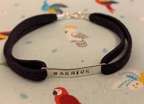 WARRIOR Navy Suede Bracelet