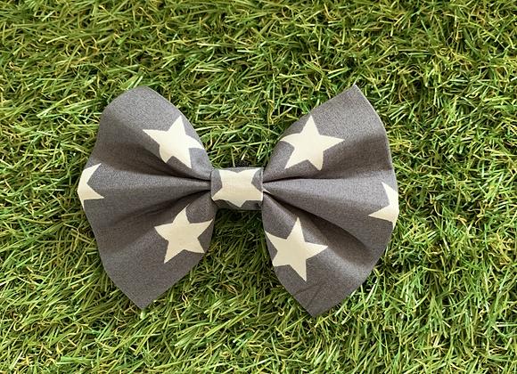 Dog Bow Tie - Grey Stars