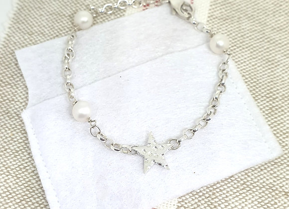 Personalisable Starry Pearl Bracelet