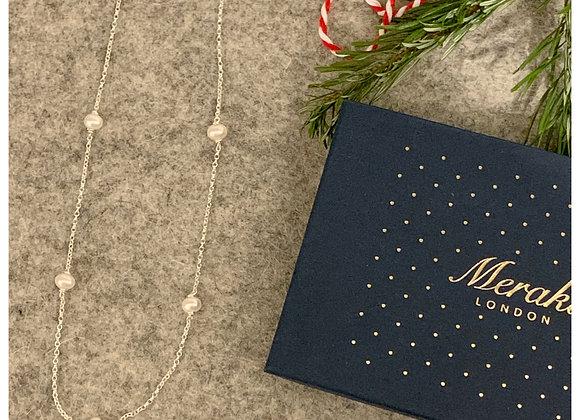 White Pearl Necklace - Giftbox