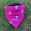 Thumbnail: Personalisable Dog/Cat Neckerchief - Pink Stars