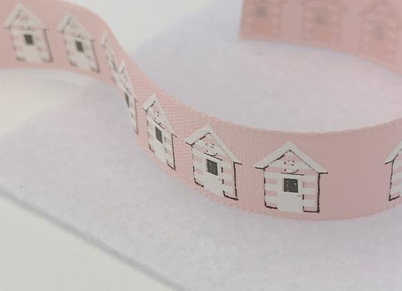 Pink Beach Huts Ribbon