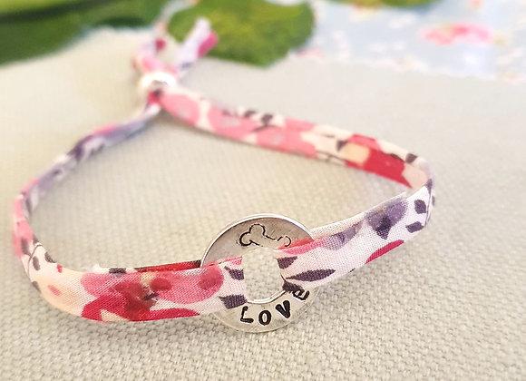 Personalisable Plain Doughnut Liberty Fabric Bracelet