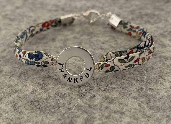 Thankful Doughnut Bracelet with Katie and Millie Liberty Fabric
