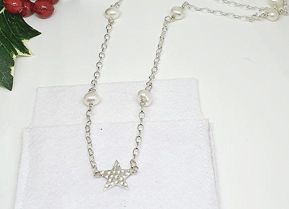 Starry Christmas Pearl Necklace