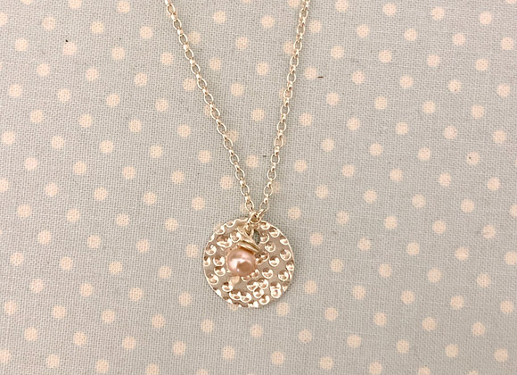 Personalisable Dappled Pink Pearl Necklace