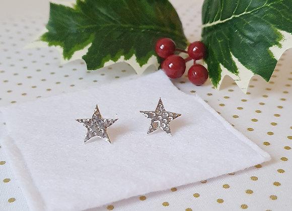 Starry Christmas Star Studs & Box