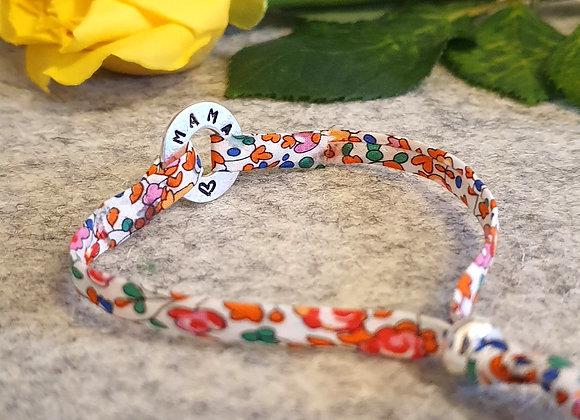 Personalisable Dappled Doughnut Liberty Fabric Bracelet