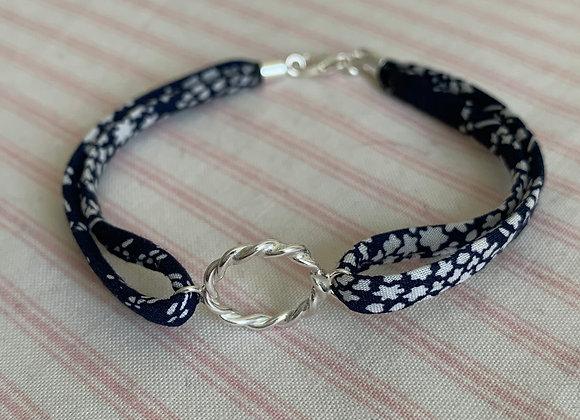 Twisted Hoop Liberty Whispering Stars C Fabric Bracelet