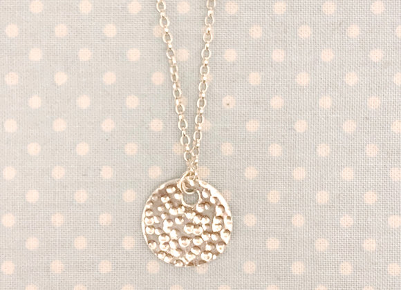 Personalisable Dappled Sterling Silver Necklace