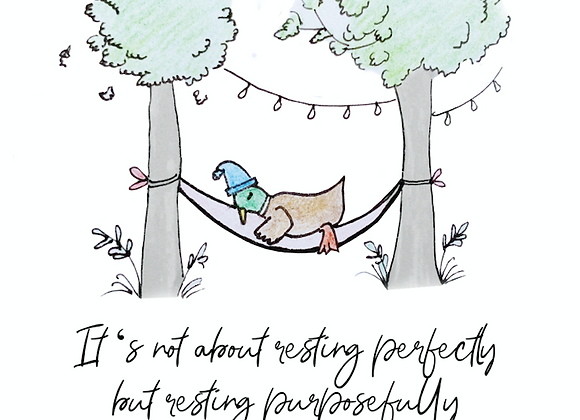 'Resting' Notelet