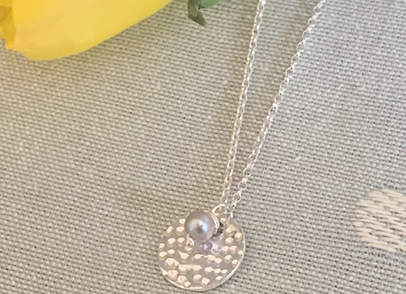 Personalisable Dappled Grey Pearl Necklace
