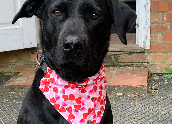 Personalisable Dog/Cat Neckerchief - Love Hearts