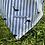 Thumbnail: Personalisable Dog/Cat Neckerchief - Dolphin Stripe (Light Blue)