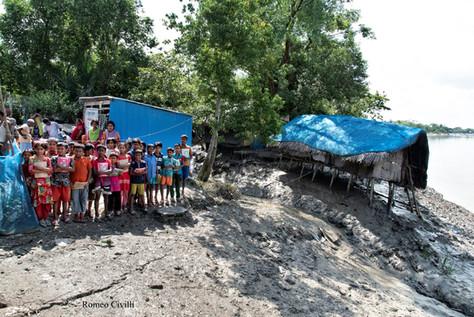 Delta del Gange a Bani Santa vicino alla foresta denominata le Sundarbans