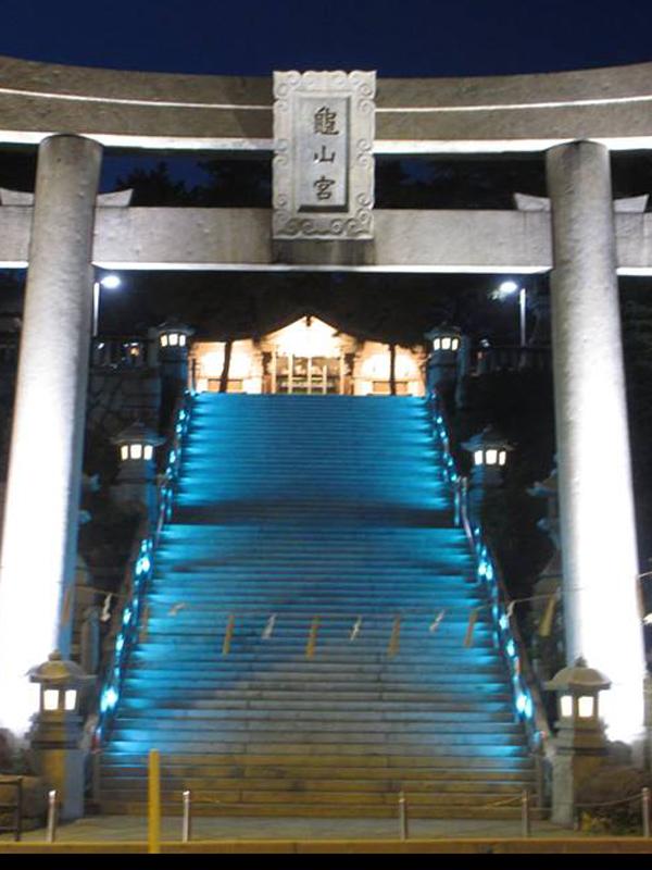 亀山八幡宮参道