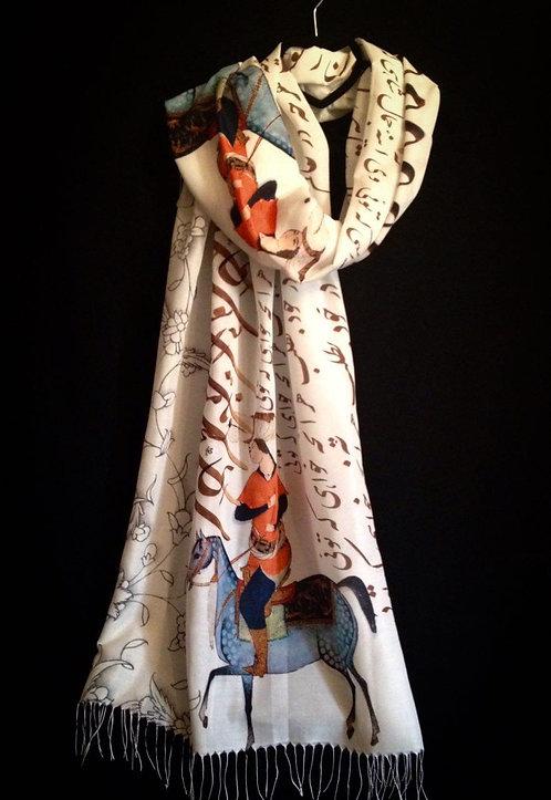 Châle foulard soie