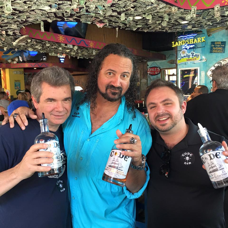 Wiley Lulfs, Johnny Ringo (CEO, CODE Rum), & Brad Brock