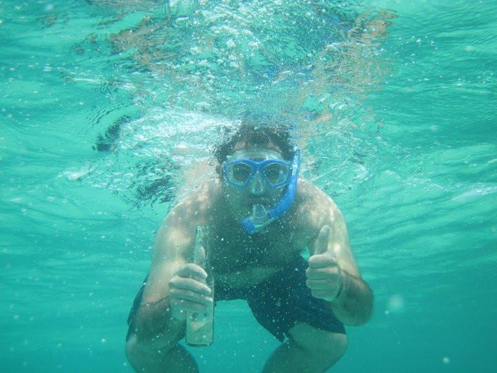 Snorkeling in Grand Bahama.