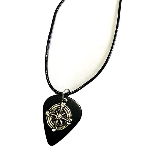 Guitar Pick & Nautical Charm Necklace