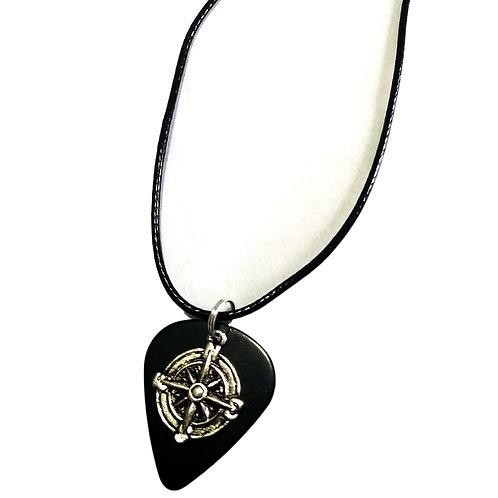 Guitar Pick & Nautical Charm Necklace