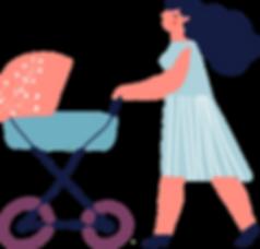 Madre con el cochecito