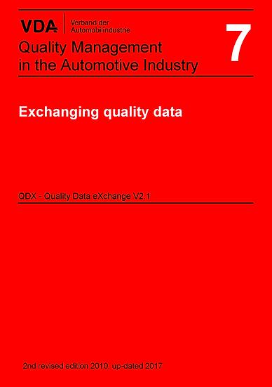 VDA Volume 7_V2.1 - Exchanging Quality Data QDX Publication