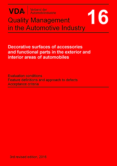 VDA Volume 16 - Decorative Surfaces of External Fittings Publication