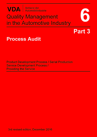 VDA Volume 6.3 - Quality Management, Process Audit Publication