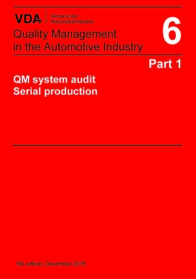 VDA Volume 6.1 - Quality Management, System Audit Serial Production Publication
