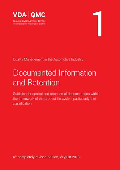 VDA Volume 1 - Documented Information & Retention