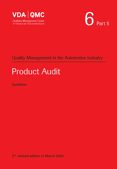 VDA Volume 6.5 - Quality Management, Product Audit Publication