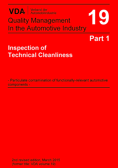 VDA Volume 19.1 - Inspection of Technical Cleanliness Publication