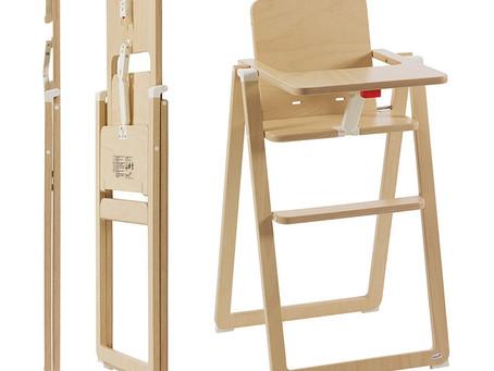 Supaflat, la chaise haute la plus compacte du marché