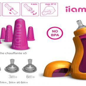 Une révolution côté biberon avec iiamo Go, le 1er biberon auto-chauffant !