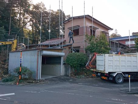 岐阜市の住宅解体工事