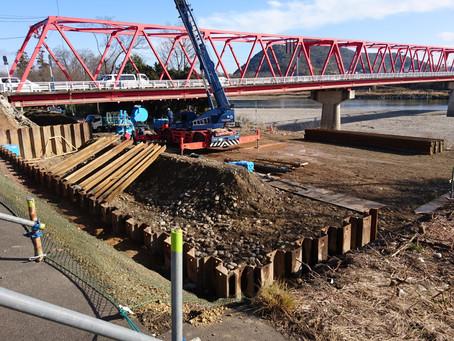 新・藍川橋の建設がついにスタートしました!