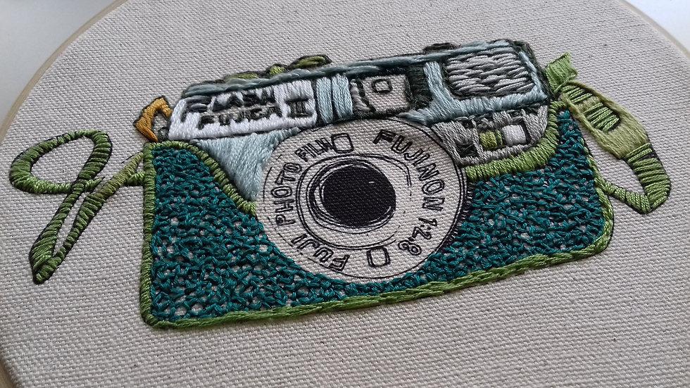 Fuji Camera embroidery kit