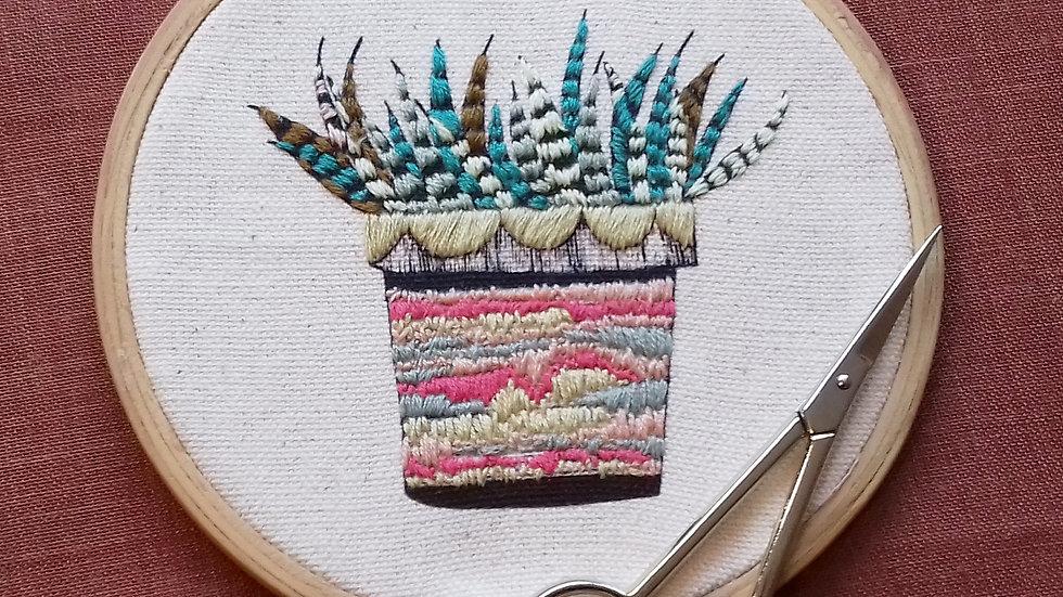Aloe Vera Embroidery Kit