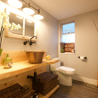 Powder room - project and renovation