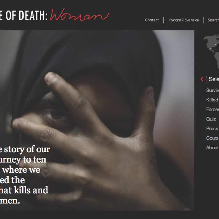 'Cause of Death: Woman' Website