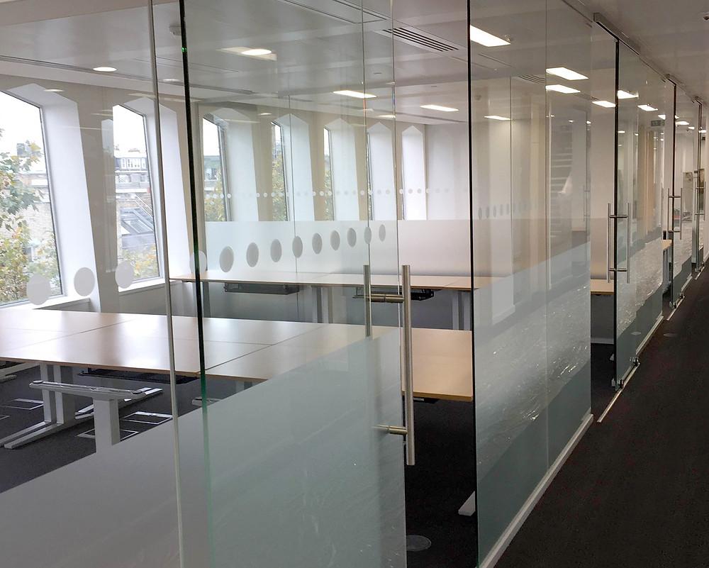Single glazed sliding doors