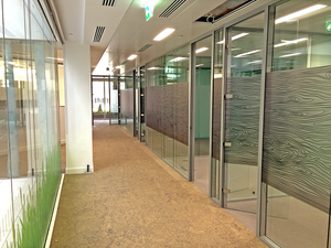 Double glazed partitioning system