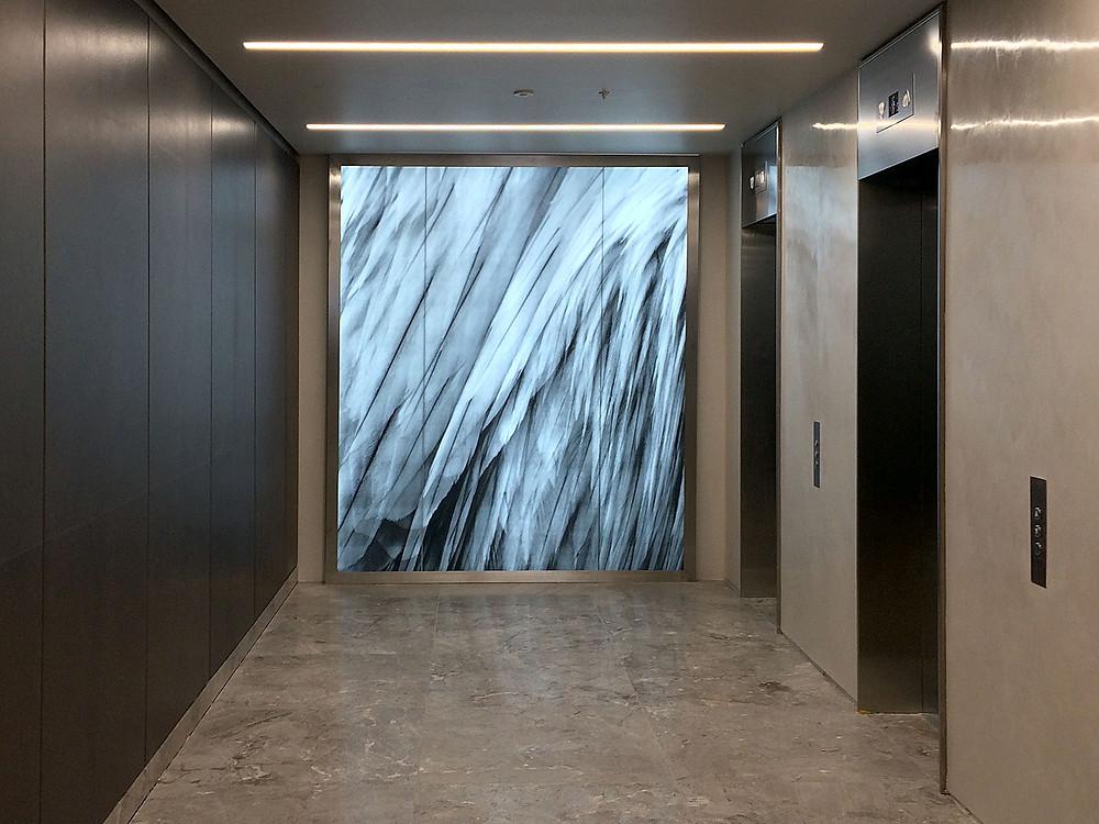 Glass artwork installation in St. James Street London