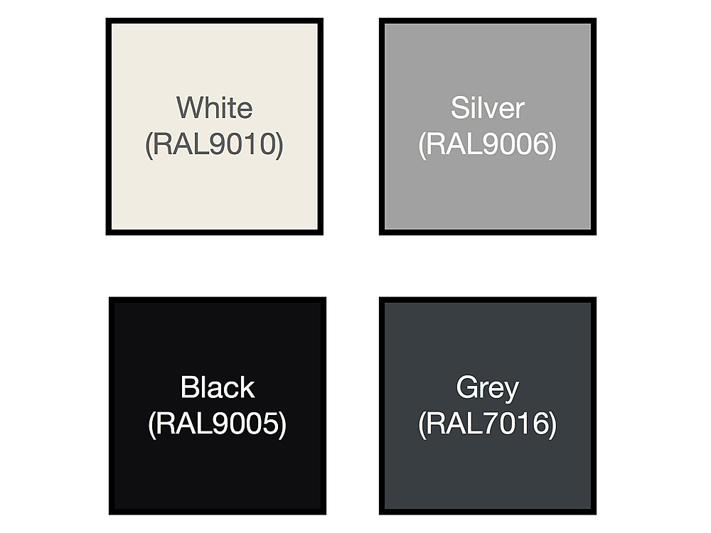 Standard Glazing Track RAL colours