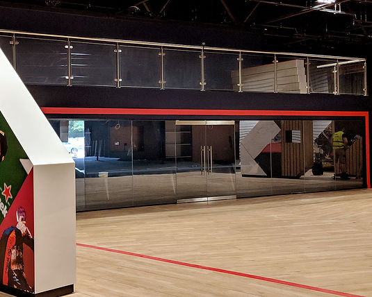 Switchable smart glass partition for Red Bull