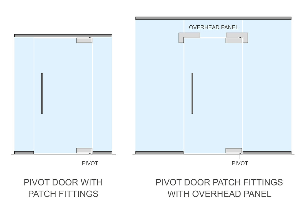 Pivot patches on glass doors